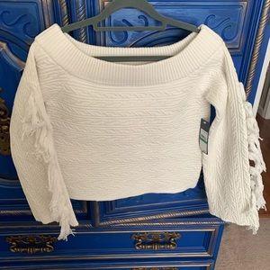 New! Rachel Roy Ryanne Off Shoulder Sweater Large